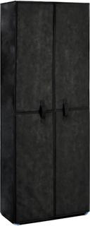 vidaXL skoskab 60 x 30 x 166 cm stof sort
