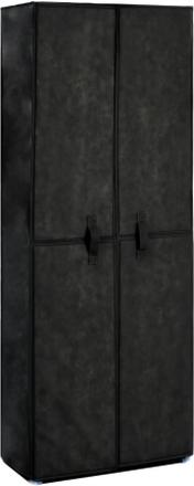 vidaXL Skoförvaring 60x30x166 cm svart tyg