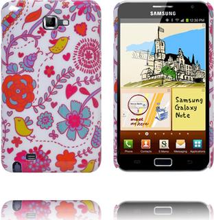 French Garden (Rød Blomstrer & Gul Fugler) Samsung Galaxy Note Deksel