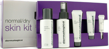 Dermalogica Normal/ Dry Skin Kit: Cleanser + Toner + Smoothing Crm + Exfoliant + Eye Reapir + 2x Sample