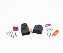 1 set 4 Pin way 1.5mm Auto Temp sensor plug waterproof Electrical Wire connector for VW car truck 1J0973804 1J0973704