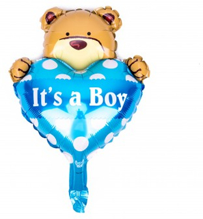 BasicsHome Folie Figur Ballon It's A Boy Bamse 1 stk