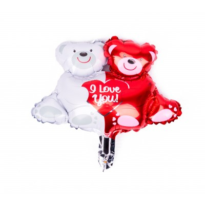 BasicsHome Folie Figur Ballon I Love You Bamser 1 stk