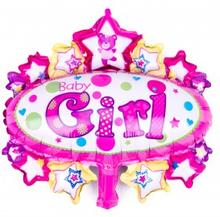 BasicsHome Folie Figur Ballon Baby Girl 1 stk