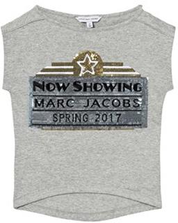 Little Marc Jacobs Grå Marc Jacobs Cinema Paljett Tröja 12 years