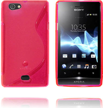 Transparent S-Line (Rød) Sony Xperia Miro Deksel