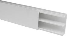 Plasfix 3604-2G Kabelkanal skruvfastsättning, med lock, 2 m 53 x 20 mm, vit
