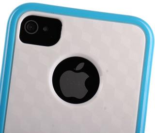 Cubus Vit - Dual Compound (Ljusblå) iPhone 4/4S Kombinationsskal
