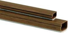 Plasfix 2407-9G Kabelkanal självhäftande, med lock, 2 m 16 x 10 mm, teakfärgad