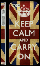 News Patriot (UK Flag Keep Calm) iPhone 5 Deksel