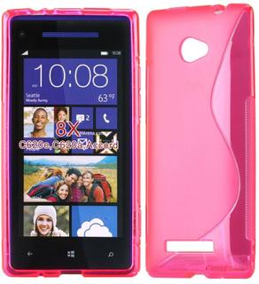 S-Line Transparent (Hot Rosa) HTC 8X Deksel