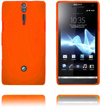 Exclamation Mark Soft Shell (Oransje) Sony Xperia S Deksel