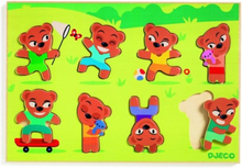 Djeco - Wooden Puzzle Teddymatch