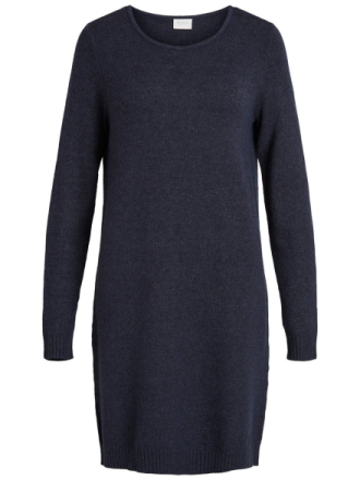 VILA Simple Knitted Dress Women Blue