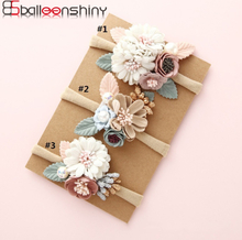 BalleenShiny Fashion Florals Headband Newborn Baby Elastic Princess Hairbands Child Kids Pearl Fresh Style Cute Headwear Gifts