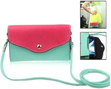 Fargebag (Grønn) Smartphone Lær Veske - Stor