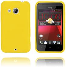 GelCase (Gul) HTC Desire 200 Deksel