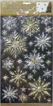 Snowflakes - 24 stk Metalliske Vindu / Veggdekorasjoner 40x24 cm