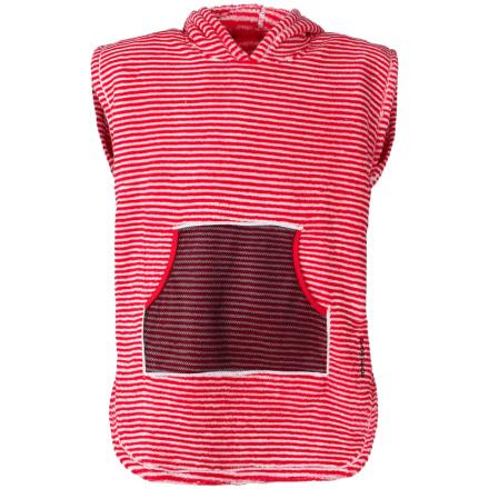 Didriksons Pier Kids Terry Poncho Barn T-shirt Röd 104-110