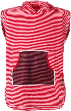 Didriksons Pier Kids Terry Poncho Barn T-shirt Röd 120-130