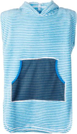 Didriksons Pier Kids Terry Poncho Barn T-shirt Blå 140-150
