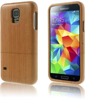Natural (Kirsebær) Samsung Galaxy S5 Ekte Wood Deksel
