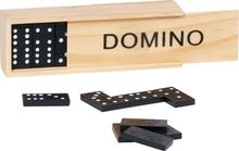 Domino-spel i trälåda (från Goki)