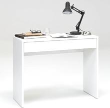 FMD skrivebord med bred skuffe 100 x 40 x 80 cm hvid 362-001
