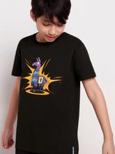 Musta t-paita, jossa Fortnite-painatus