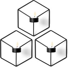 Pov ljusstake vägg 3-pack svart