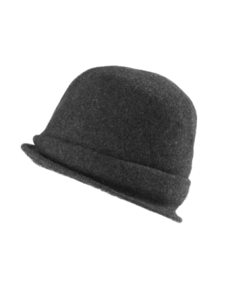 Hat 100% ren ny uld Fra Seeberger grå - Peter Hahn