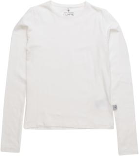 T-Shirt Langærmet T-shirt Creme HUST & CLAIRE