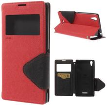 Marklund (Röd) Sony Xperia T3 Läder Flip Fodral