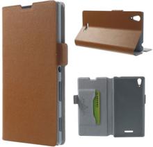 Bellman (Brun) Sony Xperia T3 Äkta Läder Flip Fodral