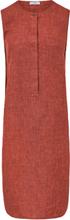Ärmlös klänning i rent linne från Peter Hahn orange