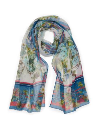 Scarf i 100% silke från Laura Biagiotti Donna blå
