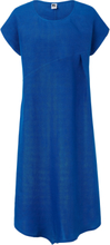 Klänning holkärm i 100% linne från Anna Aura blå
