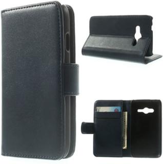 Jensen (Mørke Blå) Samsung Galaxy Ace NXT SM-G313H Lær Flipp Case