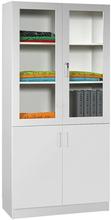 Mora Materialskåp glas/hela dörrar 2100x1000x470mm vit