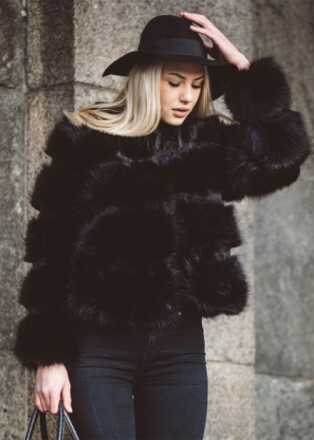 STYLESHOP Perfect Fur Jacket Black