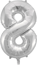 BasicsHome Folie Tal Ballon Sølv 8 80 cm