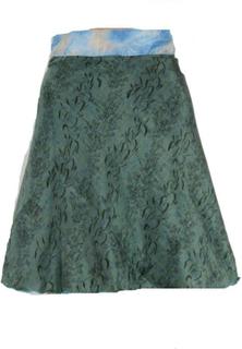 Sari Nederdel Kort Turquoise Beige