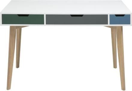 Burnley skrivbord - Vit / Ek