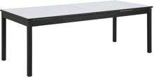 Norwalk matbord XL 215-315cm - Vit (HPL) / Svart