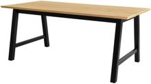 Huntsville matbord (Plankor) - Ek/svart