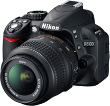 D3100 Inkl. Nikkor Lens AF-S DX Nixxor 18-105mm F/3.5.6G ED VR 14,8MP 18-108mm Sort Digital SLR Camera