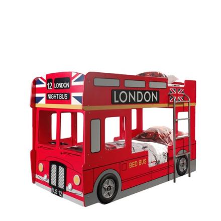 Vipack Våningssäng - London Bus 90x200 Cm