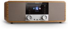 IR-190 Internetradio CD-Spelare WiFi UPnP USB Fjärrkontroll Valnöt