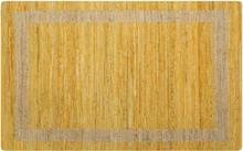 vidaXL Handgjord jutematta gul 160x230 cm