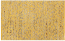 vidaXL Handgjord jutematta gul och naturlig 80x160 cm